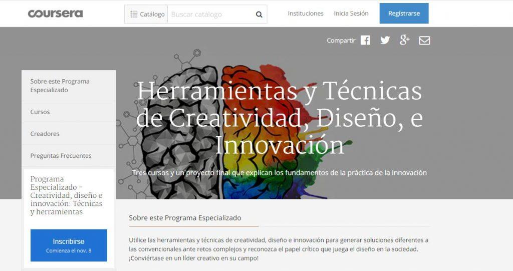 curso online de creatividad coursera