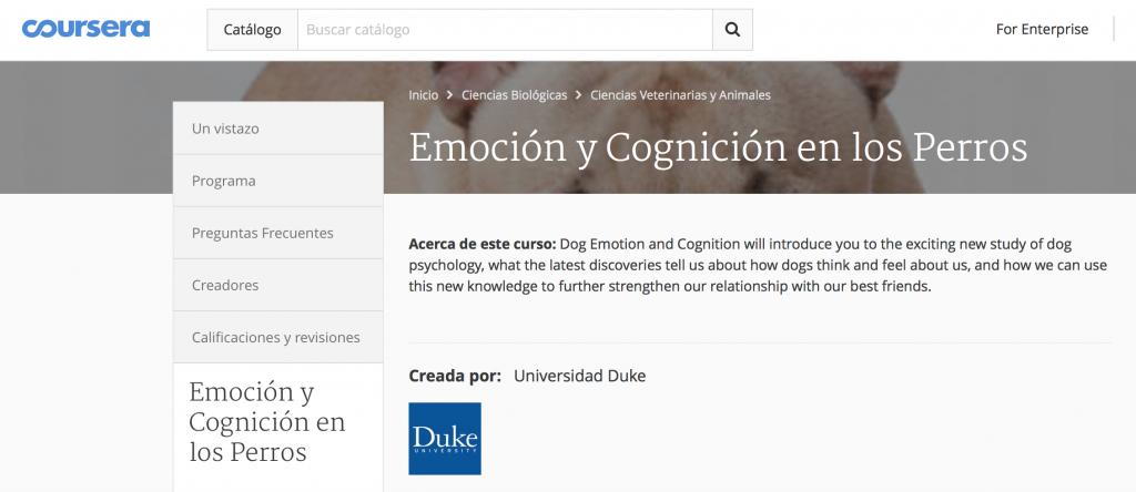 coursera emociones perros
