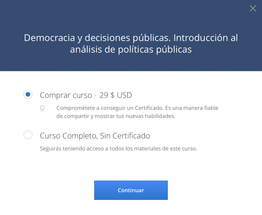 Democracia y decisiones públicas coursera