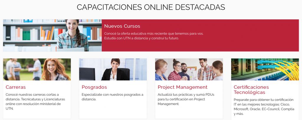 cursos online UTN