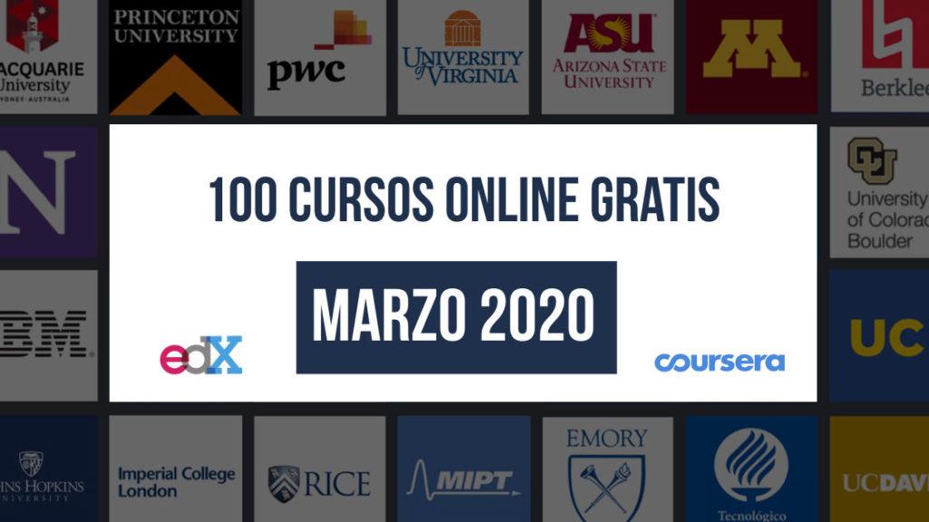 Lista De 100 Cursos Online Gratuitos Marzo 2020