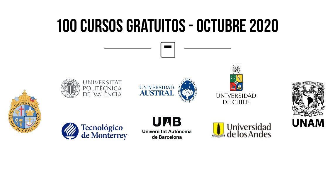 Lista De 100 Cursos Online Gratuitos Octubre 2020