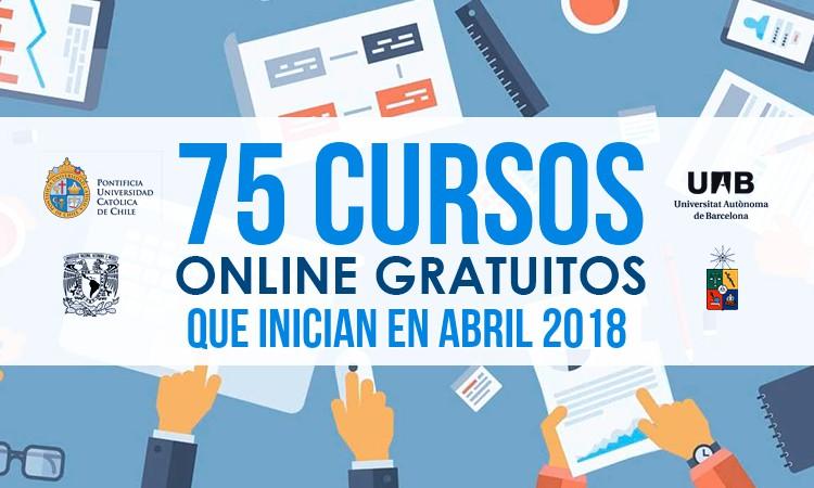 cursos gratis abril 2018